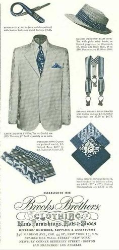 Stumbled across some nice Brooks ads from the thought I'd share them here. I get the impression that Brooks didn't quite understand what it had with. Classic Outfits, Classic Style, Cool Outfits, Classic Fashion, Brothers Clothing, Preppy Handbook, Fashion Art, Mens Fashion, Ivy League Style