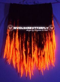 #UV #Dreads  42DE #Blood #Moon #Extensions made by #CheyenneLeHale #NVCL3ARBVTT3RFLY #neonorange #cybergoth #cyber #glowinghair #wooldreads #Halloween #hairstyles #hairextensions