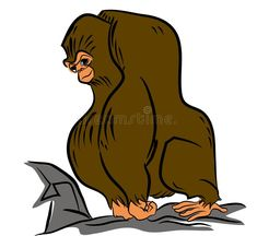 Gorilla in the jungle – illustrations and cartoons