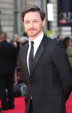 James McAvoy on the red carpet of the 2012 Olivier Awards for London theater on April 15, 2012. James has previously been nominated for 'Three Days of Rain' (2010) James presented the Olivier for Best Revival to Anna Christie.