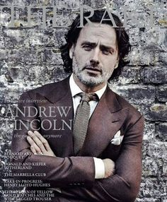 The Rake photoshoot, Andrew Lincoln on the cover - wearing Bespoke Norton & Sons House tweed.