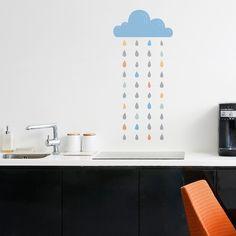 Wandtattoos - Wandaufkleber Sunday's Rain - ein Designerstück von Jennifer-550 bei DaWanda