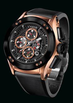 CVSTOS Challenge-R50 Chrono Red Gold and Black Steel