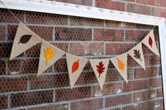 Fall Banner Autumn Decor Fall Leaves Thanksgiving by FancyFlamingo