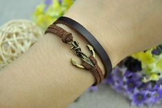 Hey, I found this really awesome Etsy listing at https://www.etsy.com/listing/151444211/anchor-bracelet-brown-leather-bracelet