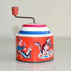 1940's Tin Music Box Toy