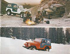1978 Jeep CJ-7 Renegade with Levi's Interior, CJ-7 Golden Eagle, and CJ-5 with Levi's Interior