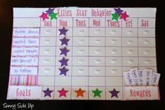 Sunny Side Up: Star Behavior Charts re-born! Chore Rewards, Behavior Rewards, Kids Rewards, Reward System For Kids, Rewards Chart, Behavior Plans, Star Behavior Charts, Behaviour Chart, Behavior Charts For Home