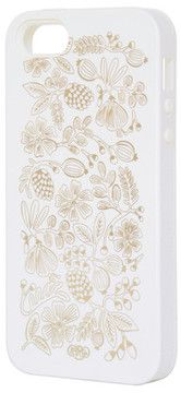 Rifle Paper Co. Golden Bouquet iPhone 5/5S White on shopstyle.com