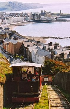 Cliff railway, Aberystwyth, Wales. Sea-side resort in north Wales.