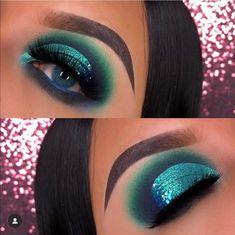 Glam Makeup, Makeup Inspo, Makeup Art, Makeup Tips, Beauty Makeup, Eye Makeup, Makeup Ideas, Teal Eyeshadow, Blue Bloods