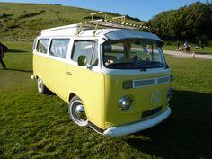 Yellow VW Camper