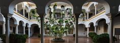 'flora' festival sees botanical artists from around the world transform spanish courtyards