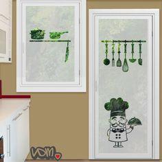 Vinilo decorativo para el cristal de la puerta de la cocina una forma muy moderna de decorar - Vinilos puertas cocina ...