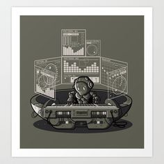 THE COMPOSER Art Print by Letter_q - $18.00