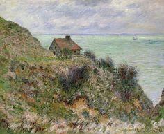 La Maison du pêcheur, temps couvert (C Monet - W 734),1882.