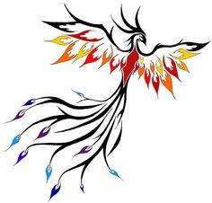 Phoenix tattoo idea.... I want it flying up my side