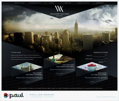 Paul Lee, Waldorf Astoria NYC website. His use of line and shape is wonderfully effective and refreshing