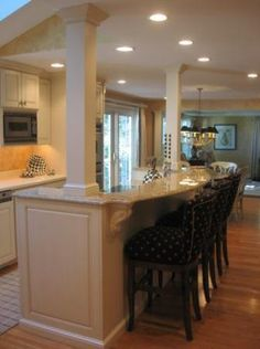 Kitchens With Columns kitchen island re-do with pillars | kitchen stuff | pinterest