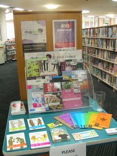 Drug Action Week display at Manly Library