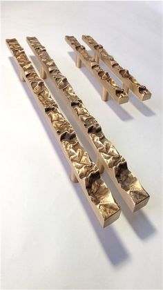 Crushed strip door handles by Philip Watts Design. Here in satin bronze. Black Door Handles, Door Pull Handles, Knobs And Handles, Door Pulls, Knobs And Pulls, Door Knobs, Drawer Pulls, Furniture Handles, Furniture Hardware