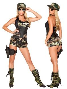 Army Babe Soldier Costume - MEDIUM