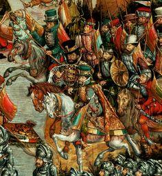 Hetman Jerzy Radziwiłł, fragment of Battle of Orsha by Hans Krell, ca. 1524-1530 (PD-art/old), Muzeum Narodowe w Warszawie (MNW), commissioned by Sigismund I the Old