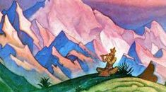 krishna nicholas roerich - Google Search Nicholas Roerich, Krishna Radha, Great Paintings, Mongolia, Landscape, Image, Google Search, Projects, Dresses