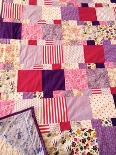 Jenn's chemo comfort quilt. My first quilt as you go project