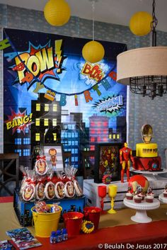 Iron Man Marvel Superheroes Birthday Party Ideas | Photo 3 of 28 | Catch My Party