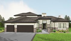 Plan 81636AB: Amazing Prairie Style Home Plan More