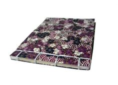 Handmade Purple and White Floral Japanese Stab Bound Journal | CraftyDayDreams - Paper/Books on ArtFire