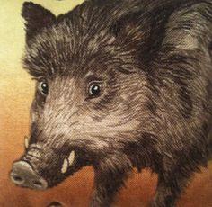 Wild Boar Fabric Lavender Bag / Wild Boar Gift / Woodland Animals - Handmade in Home, Furniture & DIY, Home Decor, Other Home Decor | eBay