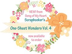 Im so excited to announce my newest collection of resources designed exclusively for scrapbooking are now available to order on Etsy! In the same simple, easy-to-use format that Cheat Sheets Collections users have come to know and love, Scrapbookers One-Sheet Wonders Vol. 4 will delight those looking for real-life papercrafting solutions for ordinary, busy scrapbookers.  These handy scrapbookers helpers contain six different sketches all using just ONE sheet of patterned paper plus the 12x12…