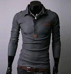 Mens Polo Shirt Long Sleeve