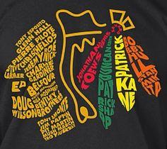 The names of your 2015 Stanley Cup Champions! Blackhawks Hockey, Hockey Teams, Chicago Blackhawks, Ice Hockey, 2015 Stanley Cup, Stanley Cup Champions, Hanson Brothers, Black Hawk, Patrick Kane