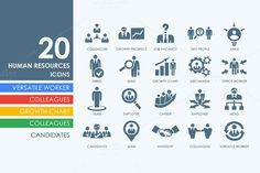 20 human resources icons. Human Icons. $5.00