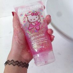 Imagem de glitter, hello kitty, and pink Hallo Kitty, Hello Kitty Items, Hello Kitty Makeup, Hello Kitty Things, Cute Makeup, Indie Kids, Pastel Pink, Sanrio, Childhood