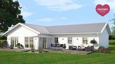 Villa Lindö | A-hus Home Projects, Villa, New Homes, Construction, Cabin, Sims 4, Building, Outdoor Decor, Room Ideas