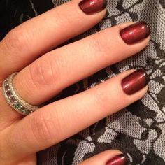 Gelish Manicure.  My forbidden Love with Black Shadow French tips