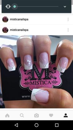 Manicure Nail Designs, French Manicure Nails, French Nails, May Nails, Love Nails, Pretty Nails, French Nail Designs, Nail Art Designs, White Nails