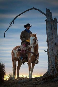 Cowboy and his horse at sunrise on a ranch in northweastern Wyoming / Camera/lens: Canon Mk II, Canon EF IS / Place: Hulett, WY Cowgirl And Horse, Cowboy And Cowgirl, Horse Riding, Real Cowboys, Cowboys And Indians, Rodeo Cowboys, Western Riding, Western Art, Westerns