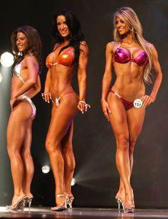 Bikini body building mini woman