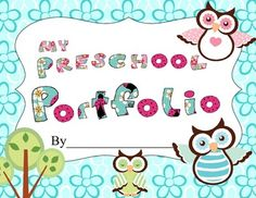 This is a fun Preschool Owl Portfolio with forms for throughout the year.  It includes some holiday and event forms, a name and number writing form, subject forms and more. You could add a picture to the various portfolio pages, or you could encourage creative writing skills by having them draw pictures.