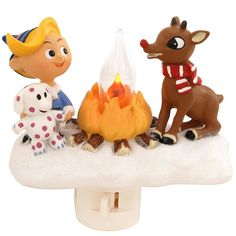 Hermie And Rudolph Campfire Night Light