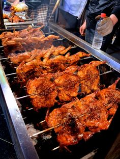 Street Food Adventures in Xi'An - The Woks of Life hui min jie, or Chicken Wing Recipes, Bbq Chicken, Rotisserie Chicken, Sesame Chicken, Wok Of Life, Barbecue, Food Porn, Homemade Tacos, Street Food