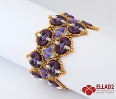 Tutorial Arcos Bracelet with Arcos Par Puca beads-Beading Tutotials and Patterns - Ellad2