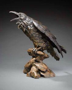 .The Storyteller from Desert Raven Art | corvids