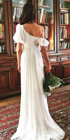 a354987d04e Simple Wedding Dresses For Elegant Brides ❤ See more  www.weddingforwar.