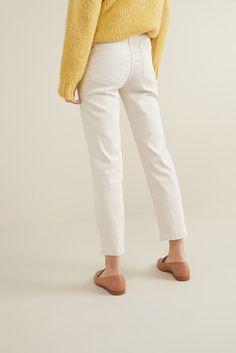Ecru Soft Touch Cropped Jeans Next Uk, White Denim, Uk Online, Cropped Jeans, Color Splash, Capri Pants, Banana, Fashion Outfits, Touch